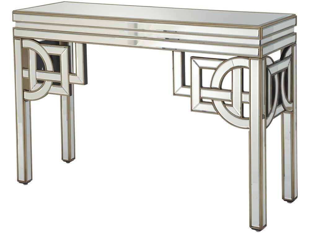 Art Deco Mirrored Console Table Console Table